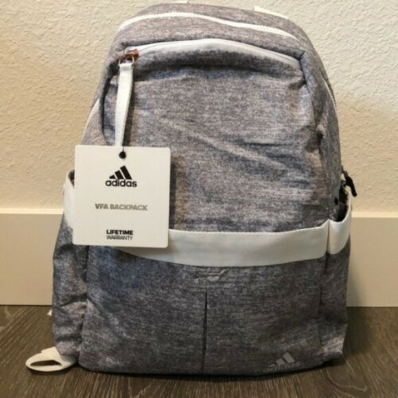 519f789db5c2 Adidas VFA Backpack-Jersey Grey/White/ Rose Gold NWT